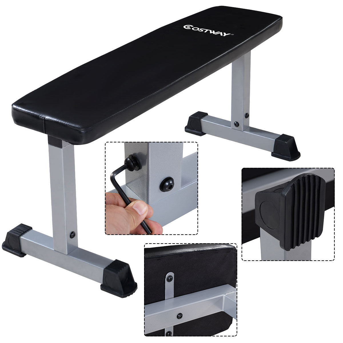 Sit Up Bench Flat Crunch Board Ab Abdominal Fitness Weight