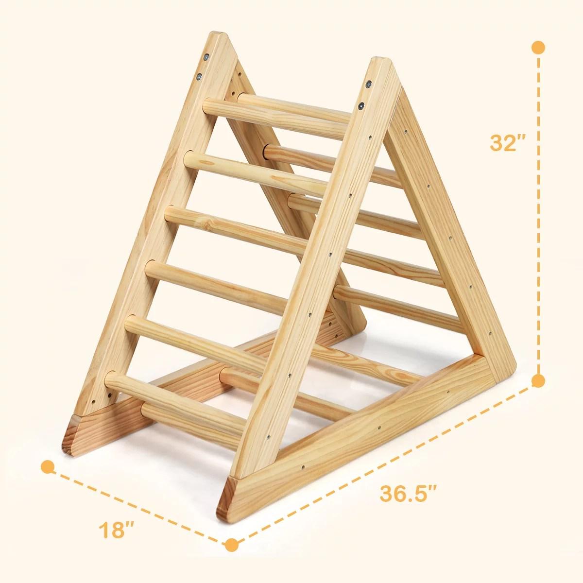 triangle d escalade pour enfants echelle d escalade d interieur cadre en bois de pin avec peinture non toxique la capacite de charge maximum 60kg