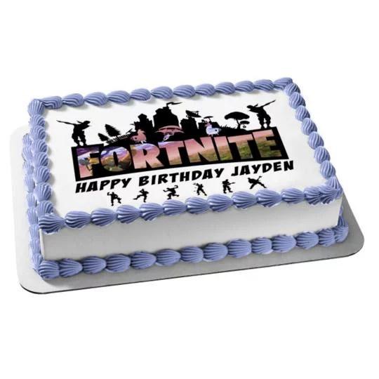 Fortnite Battle Royale Happy Birthday Personalize Edible Cake Topper Image Abpid51014 Walmart Com Walmart Com