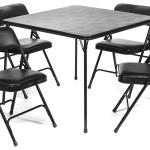 5pc Xl Series Folding Card Table And Triple Braced Vinyl Padded Chair Set Commercial Quality Black Walmart Com Walmart Com