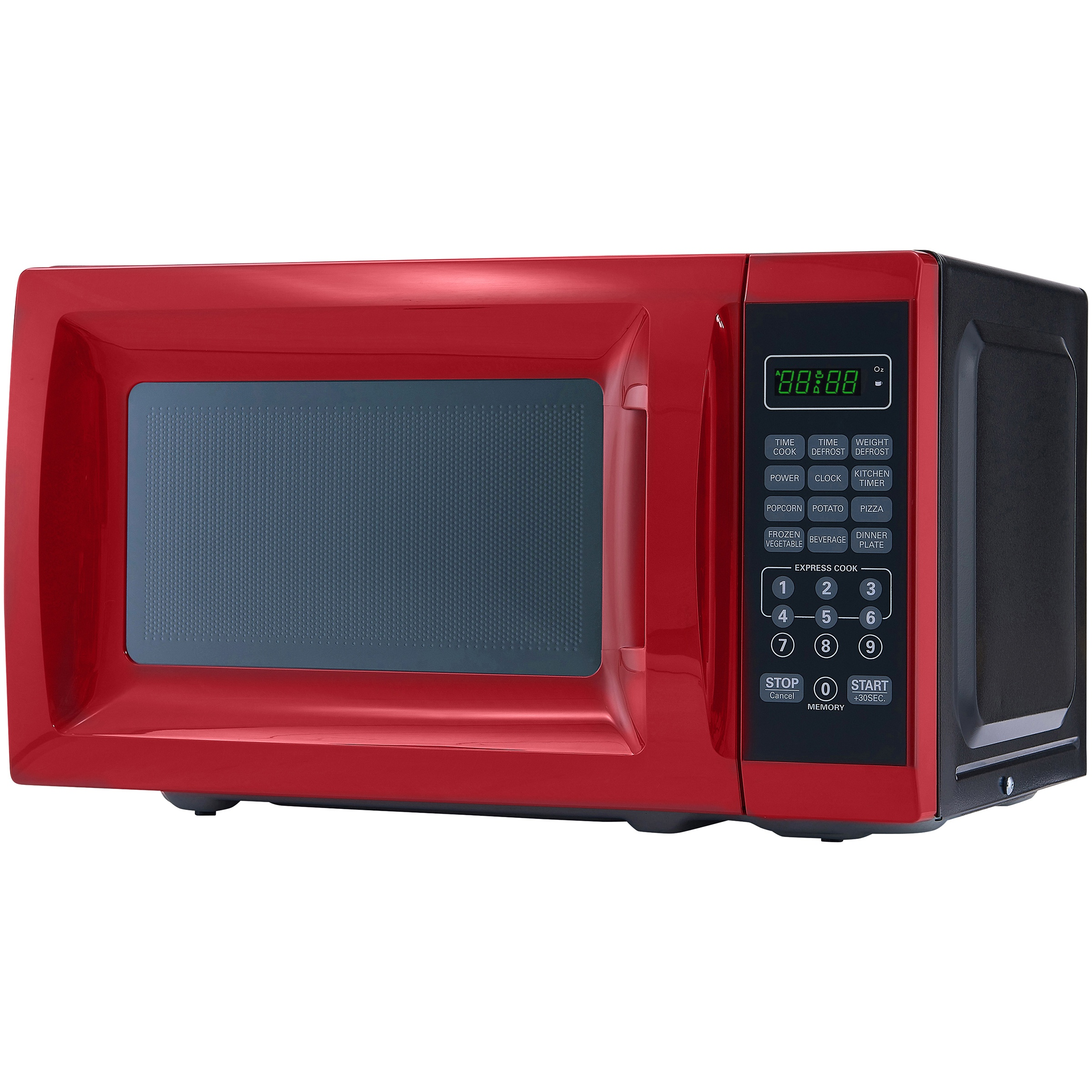 mainstays 0 7 cu ft 700w red microwave oven walmart com