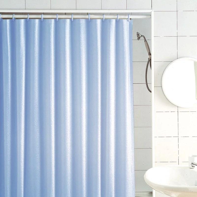 excell glitter medium weight vinyl shower curtain 70 x 72 light blue