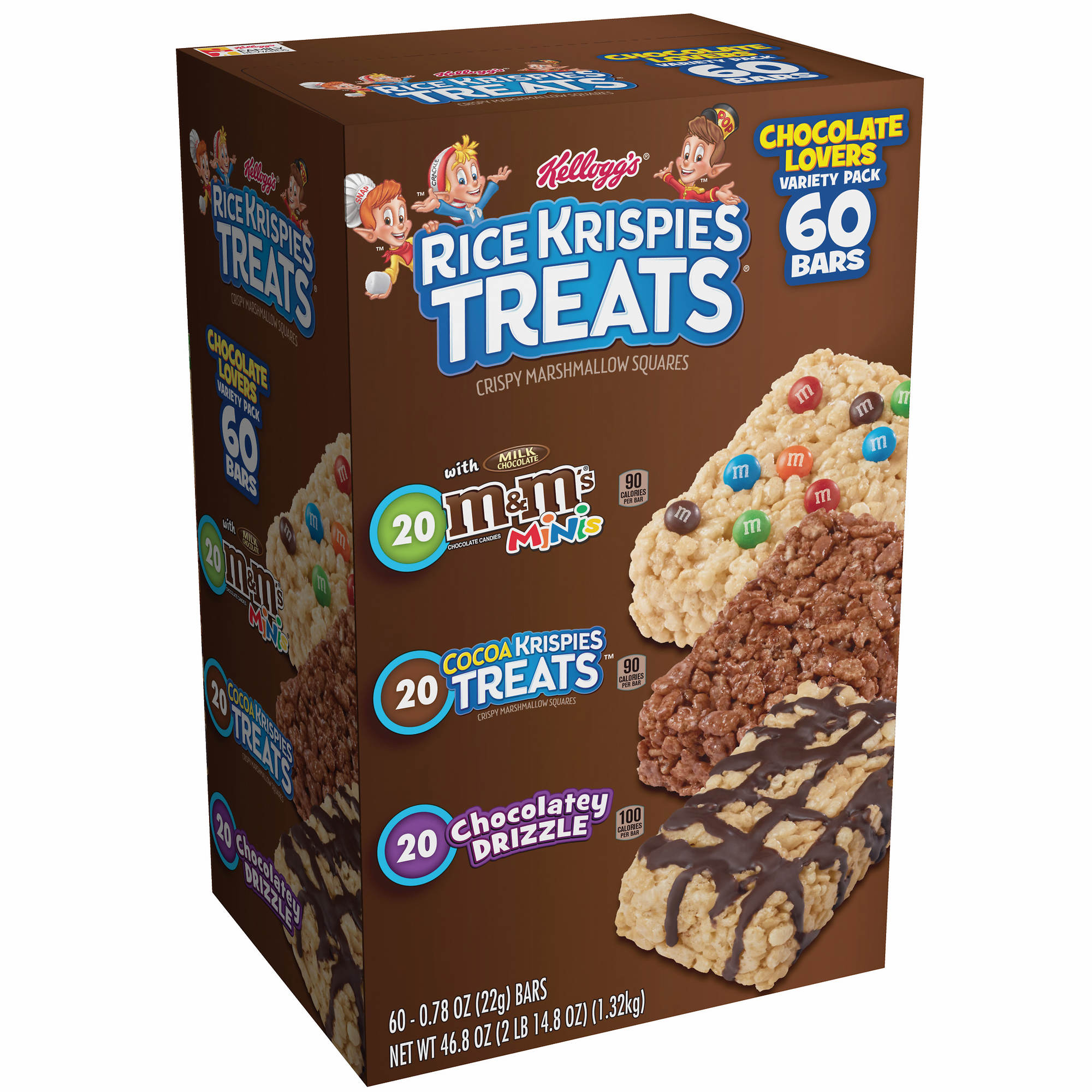 Kellogg S Rice Krispies Treats Variety Pack 60 Ct 0 78 Oz Walmart Com Walmart Com