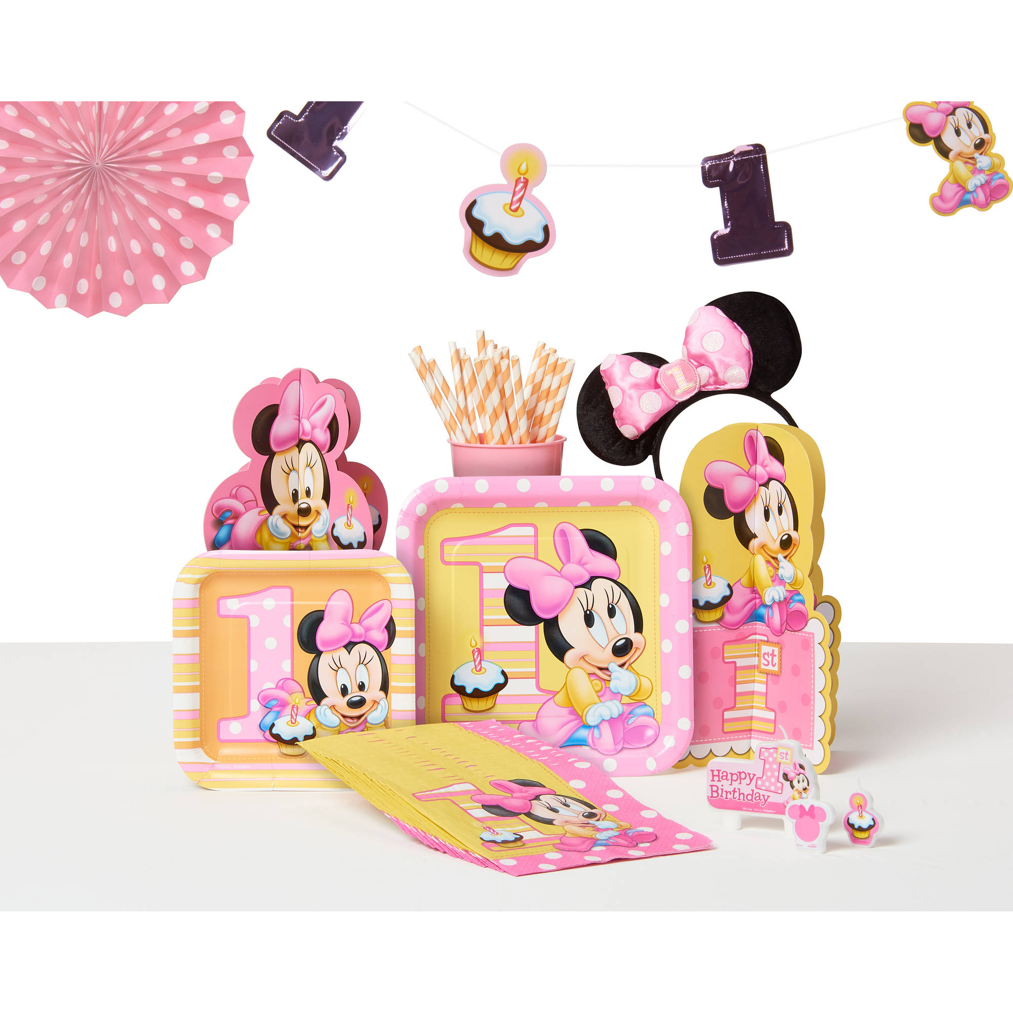 Baby Minnie Mouse Hanging String Decorations First Birthday Party Supplies 6ct Party Supplies Patterer Party Decorations