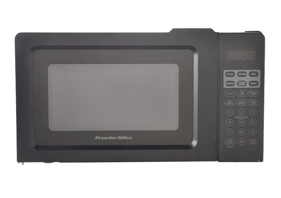 proctor silex 0 7 cu ft black digital microwave oven