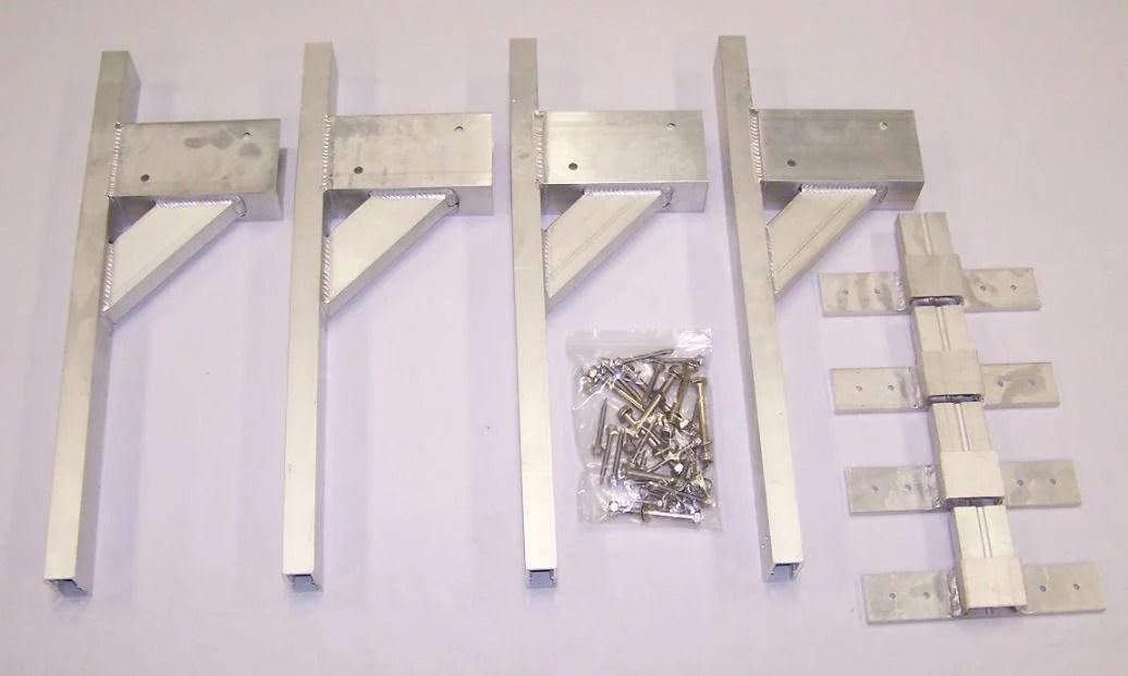 rack em ra 28b ladder rack mounting bracket for use on enclosed trailer roof standard 2x4 lumber is used rain gutter mount set of 4