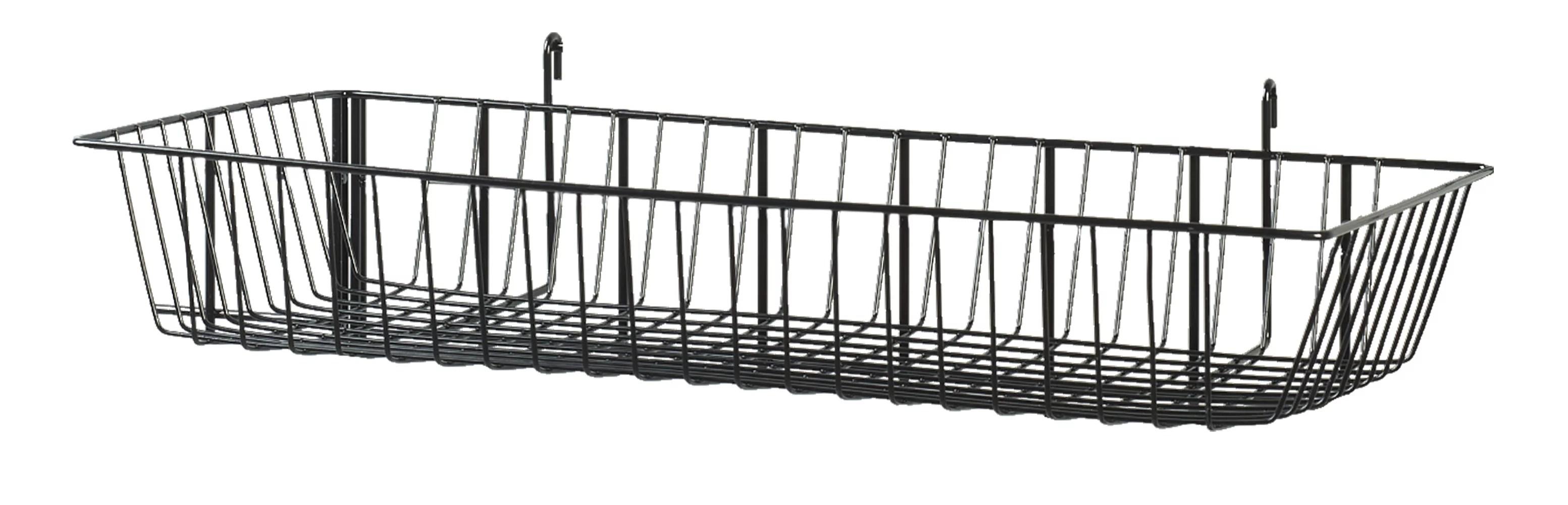 Black Mini Wire Grid Basket For Wire Grid 24 X 12 X 4