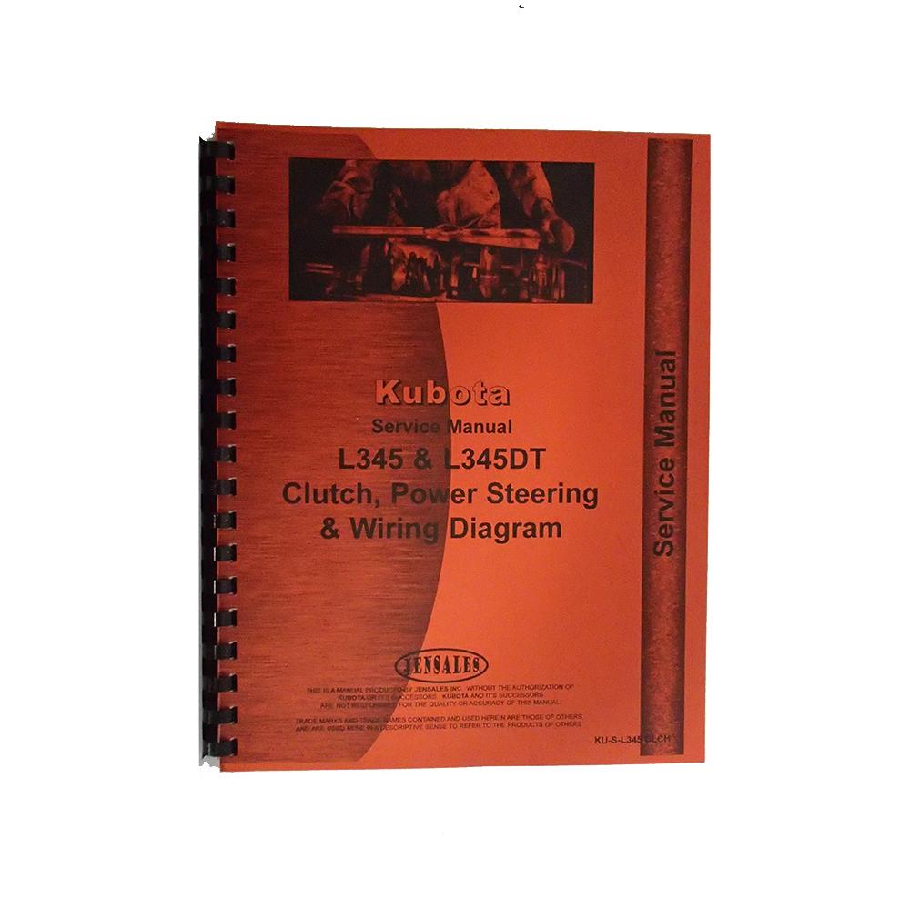 Kubota L345 L345DT Tractor Service Manual  Walmart