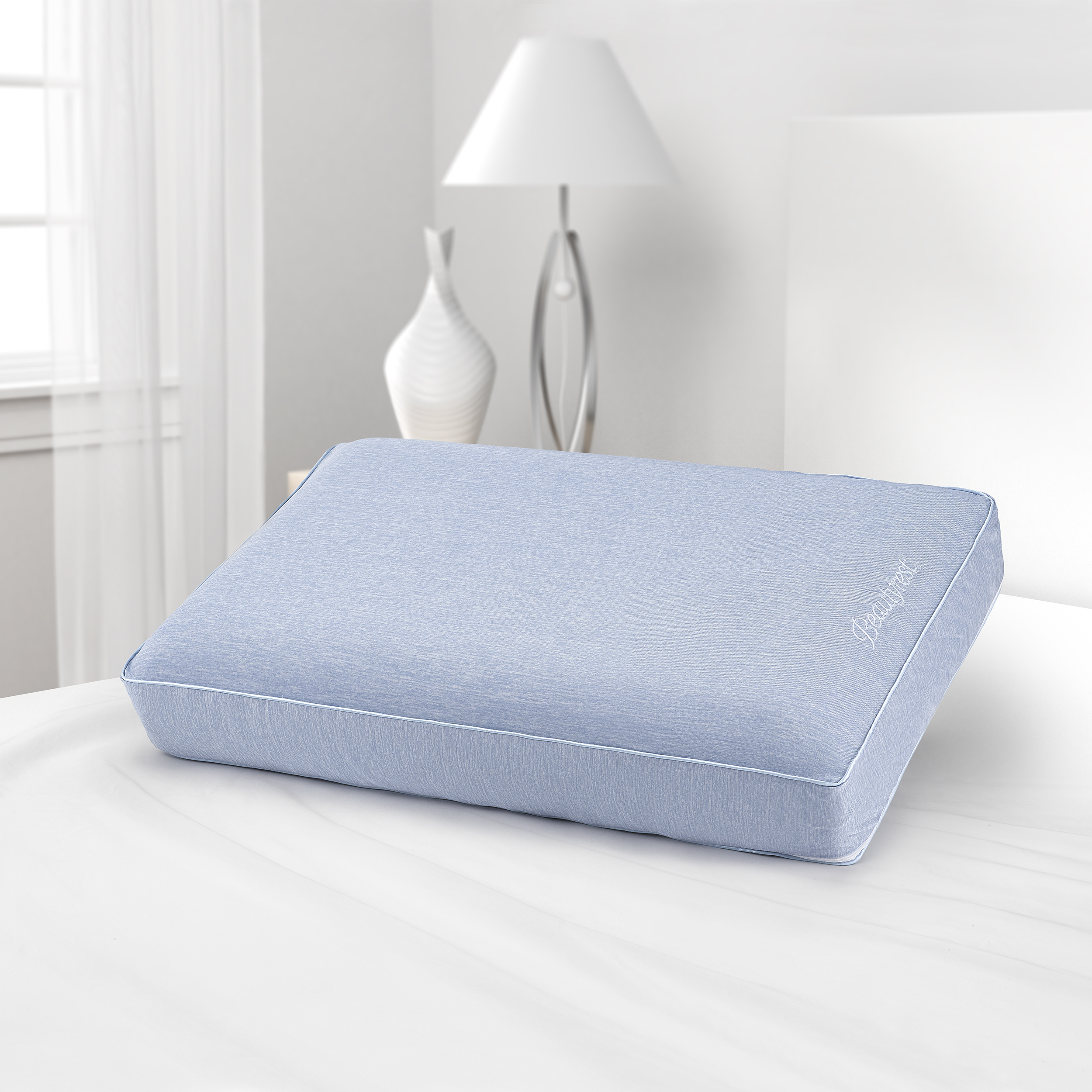 beautyrest silver aquacool memory foam pillow with removable cover standardqueen walmart com
