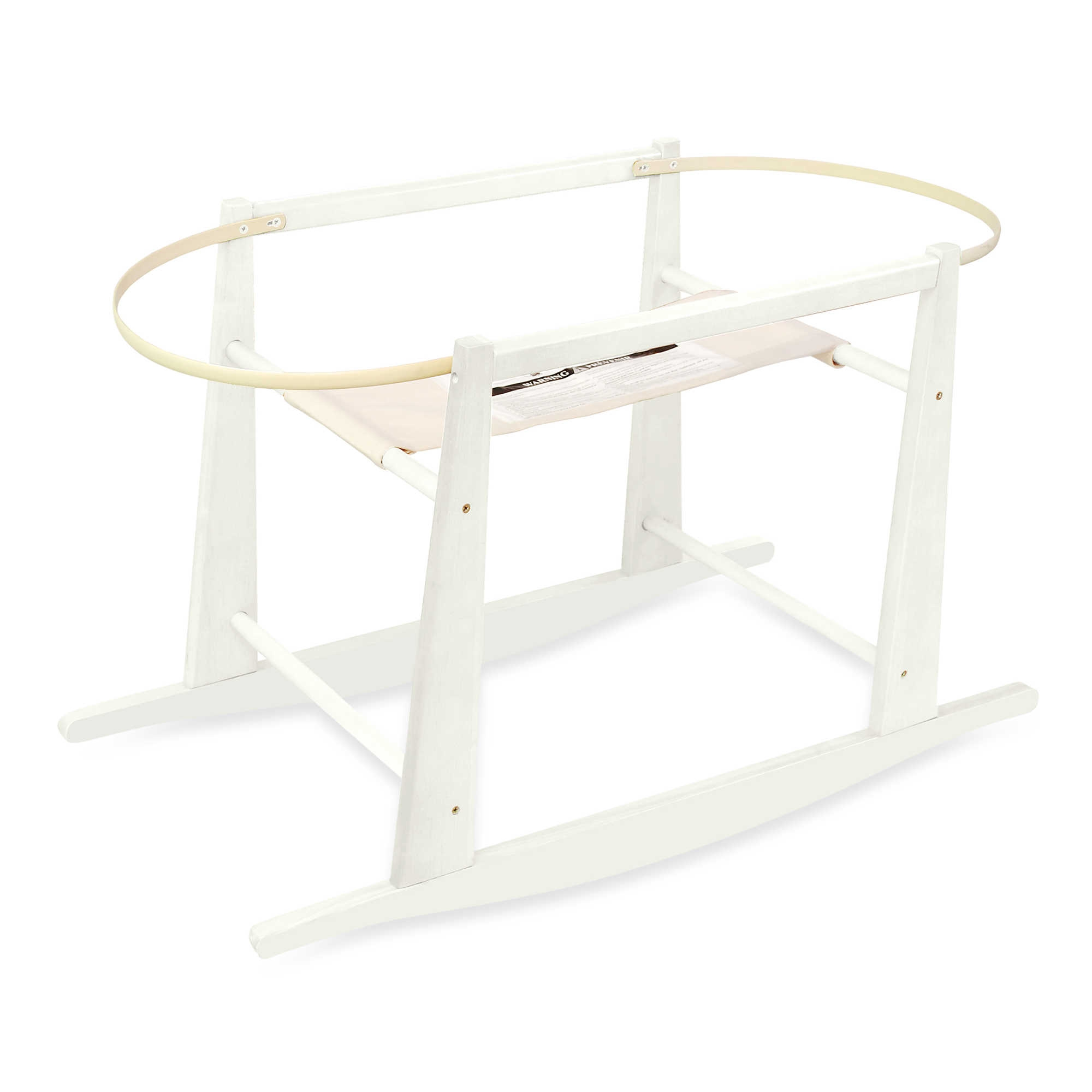 Jolly Jumper Rocking Moses Basket Stand White