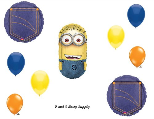 Despicable Me 2 Minions Denim Happy Birthday Party Balloons Decorations Supplies Walmart Com Walmart Com