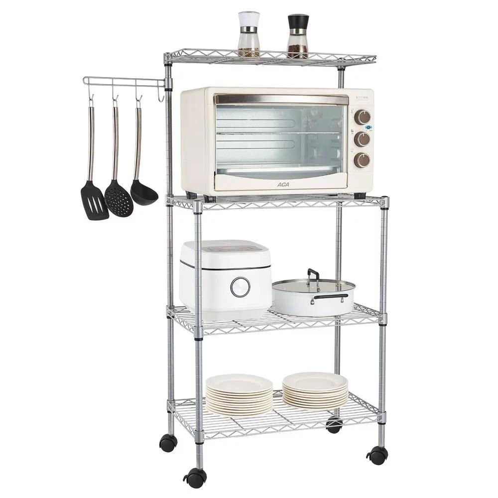 ktaxon 4 tier microwave stand storage rack with spice rack organizer