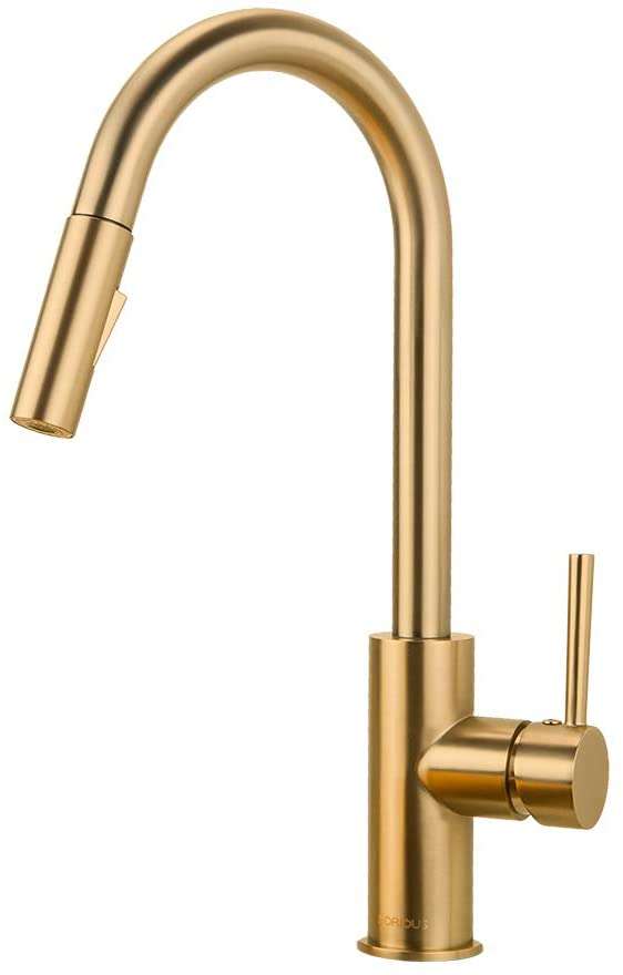 gold kitchen faucet with pull down sprayer kitchen faucet sink faucet with pull out sprayer single hole and 3 hole deck mount single handle copper