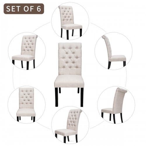2 4 6 pcs upholstery fabric dining chairs trim tufted arm dining accent chair furniture fabric dining chairs with nailhead living room chair bedroom