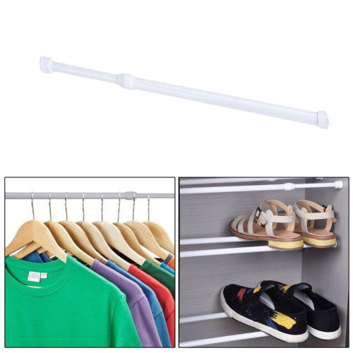 walfront adjustable spring loaded tension rod shower extendable curtain closet window rail pole adjustable shower curtain rod adjustable spring