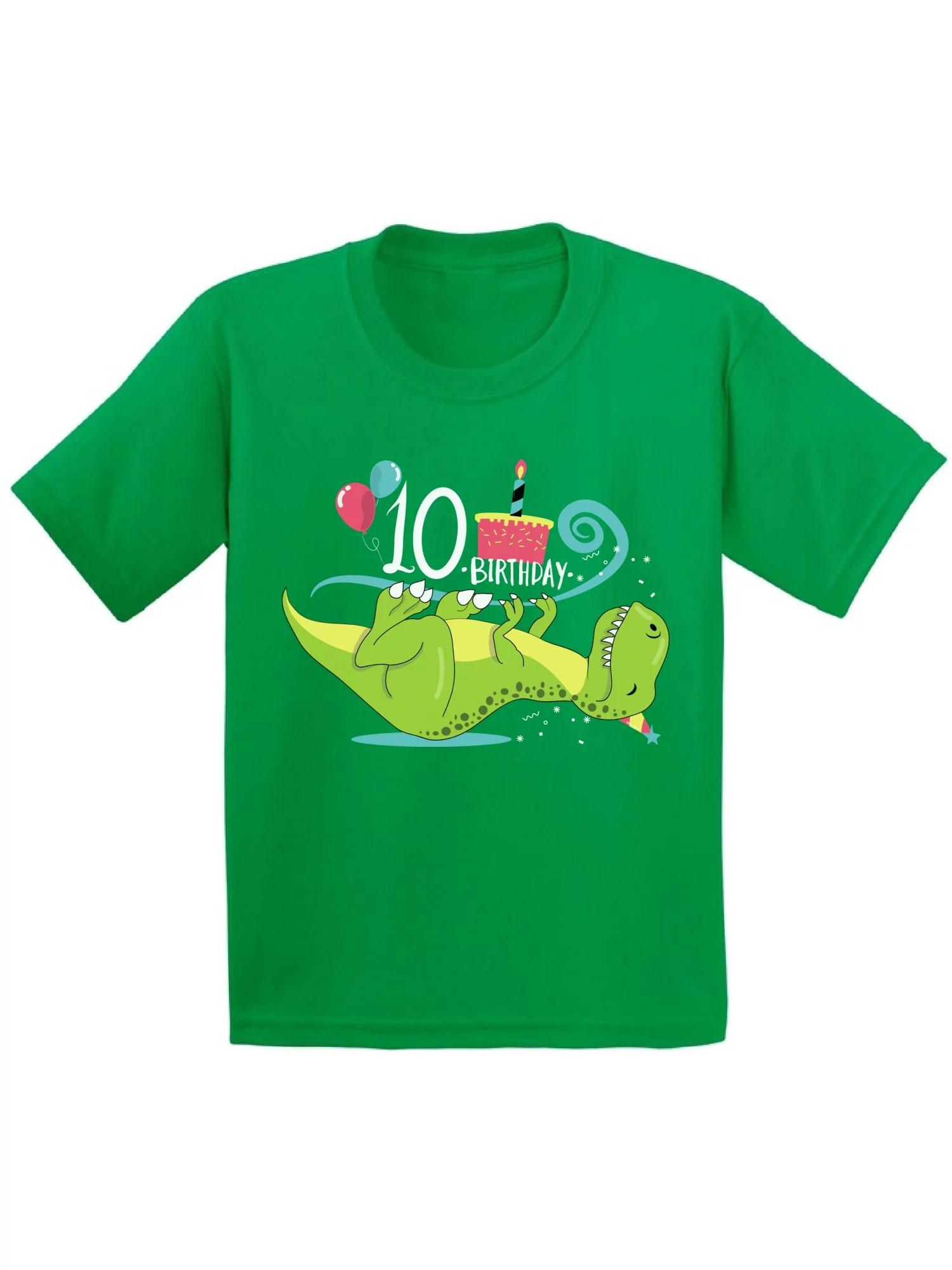 Awkward Styles Awkward Styles 10th Birthday Shirt Cute Dinosaur Birthday Tshirts For Boys Cute Dinosaur Birthday Tshirts For Girls Tenth Birthday Gifts Kids Birthday Shirts Funny Gifts For 10 Year Old