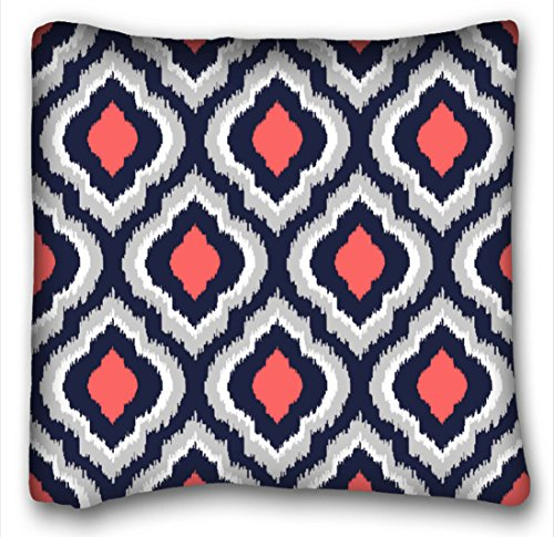 winhome gray coral pink and navy blue moroccan home custom pillowcase soft zippered throw pillow case cases cover cushion covers sofa size 18x18