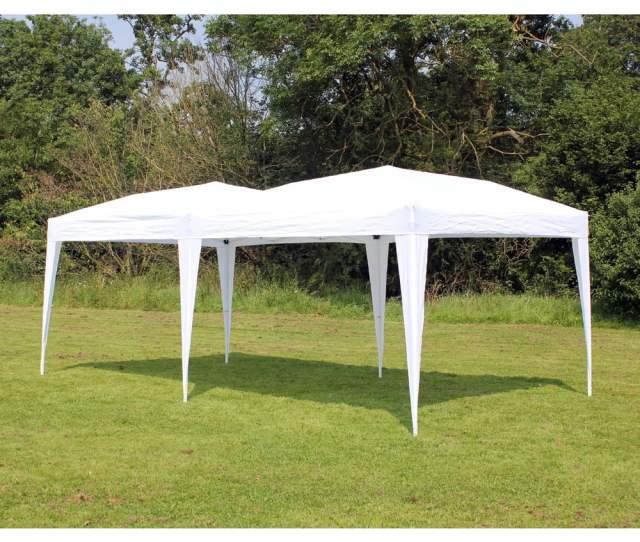 New  Palm Springs White Pop Up Ez Set Up Canopy Gazebo Party Tent Walmart Com
