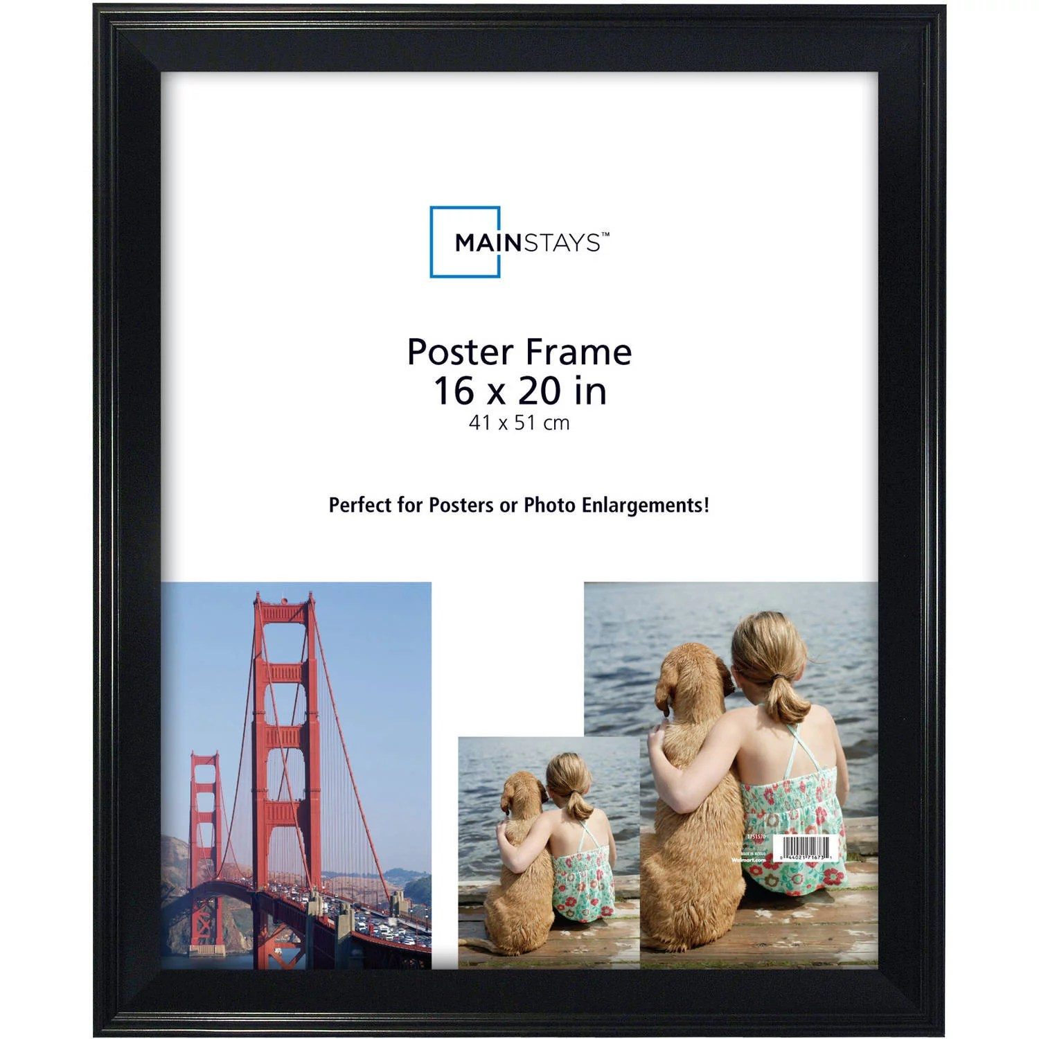 mainstays 16x20 casual poster and picture frame black