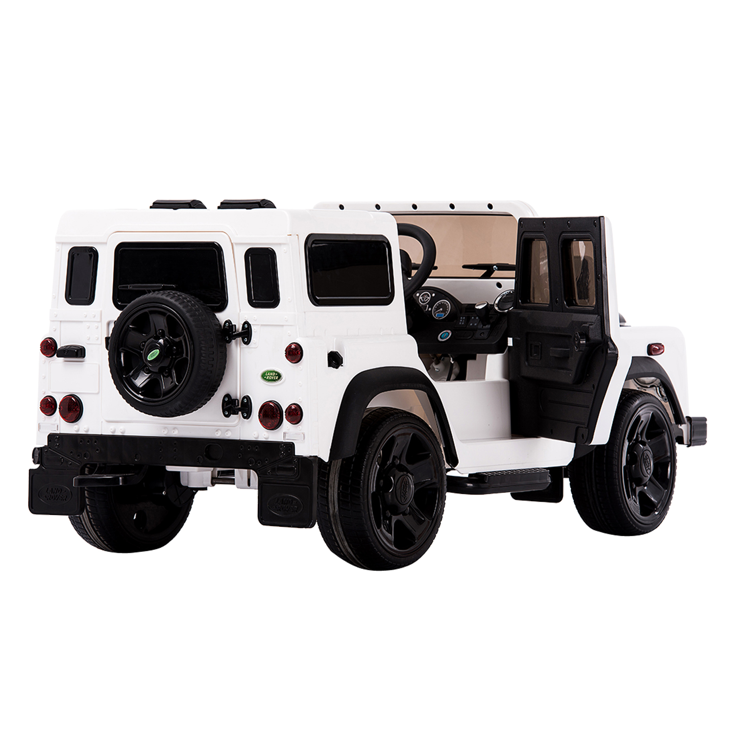Aosom 12V Land Rover Defender Kids Electric Ride Car with MP3