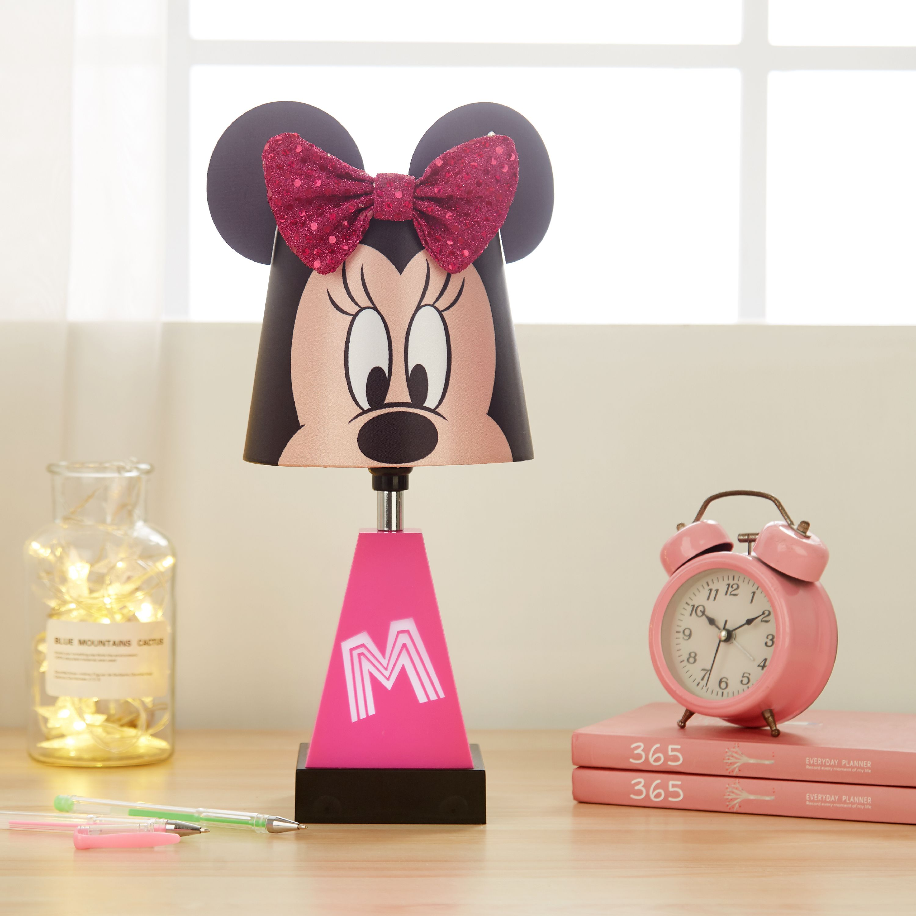 minnie mouse 2 in 1 kids lamp with night light