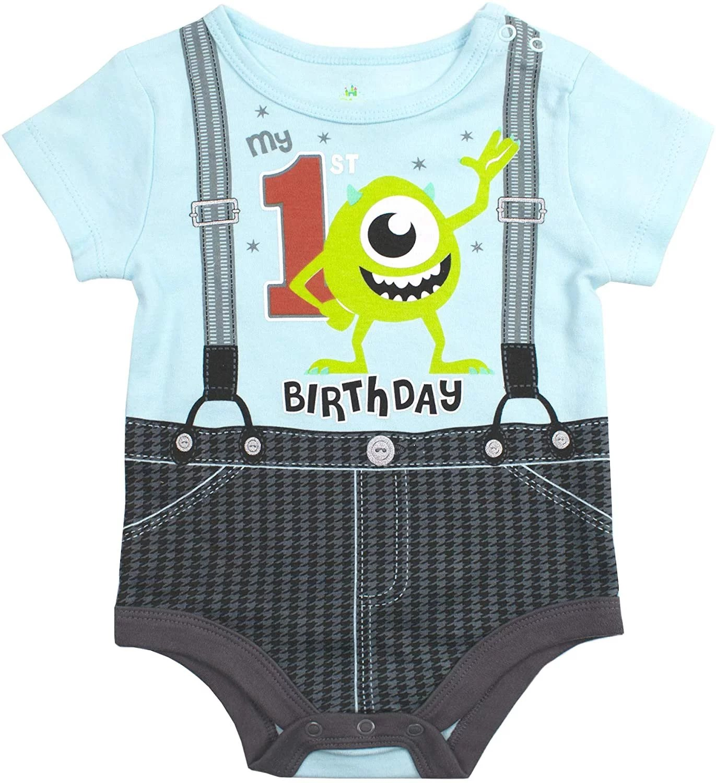 Disney Disney Baby Boy Onesies Mickey Mouse 1st Birthday Outfit Walmart Com Walmart Com