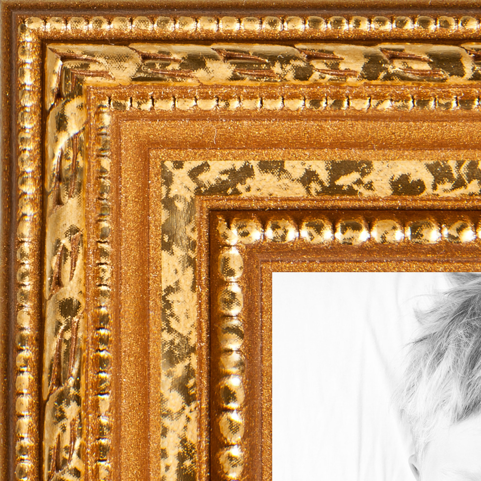 arttoframes 24x36 inch gold picture frame this gold wood poster frame is great for your art or photos comes with styrene 4317 walmart com