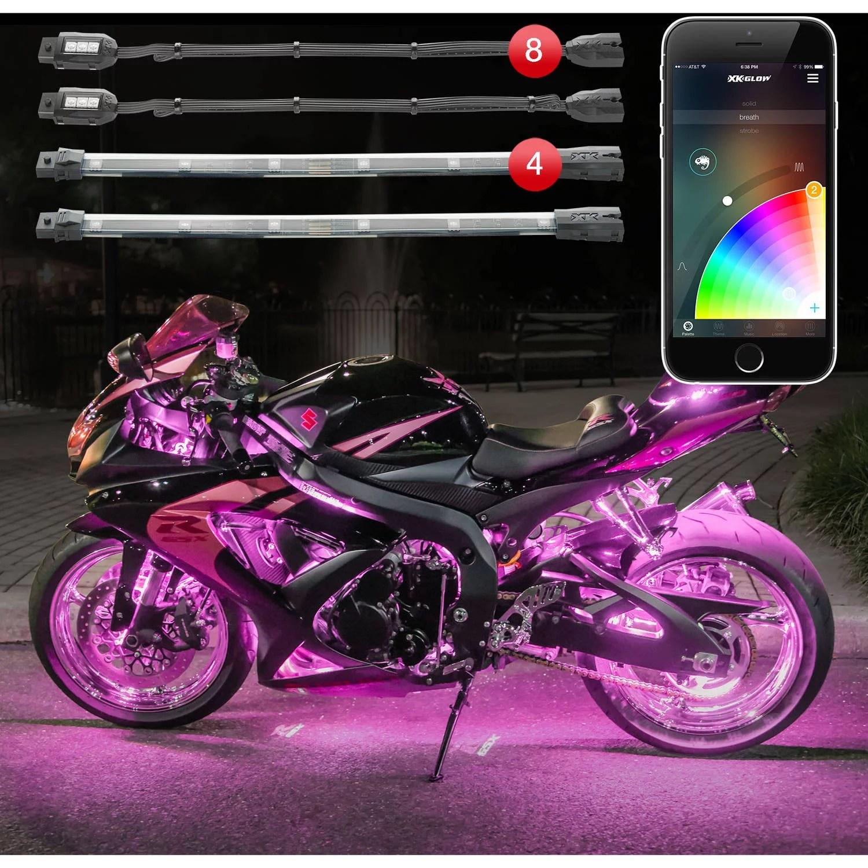 xkchrome app control 16 million color 8 pod 4 strip motorcycle led accent standard kit walmart com