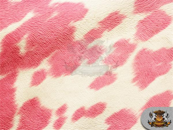 suede velvet cow print fabric udder madness upholstery pink 54 wide sold by the yard