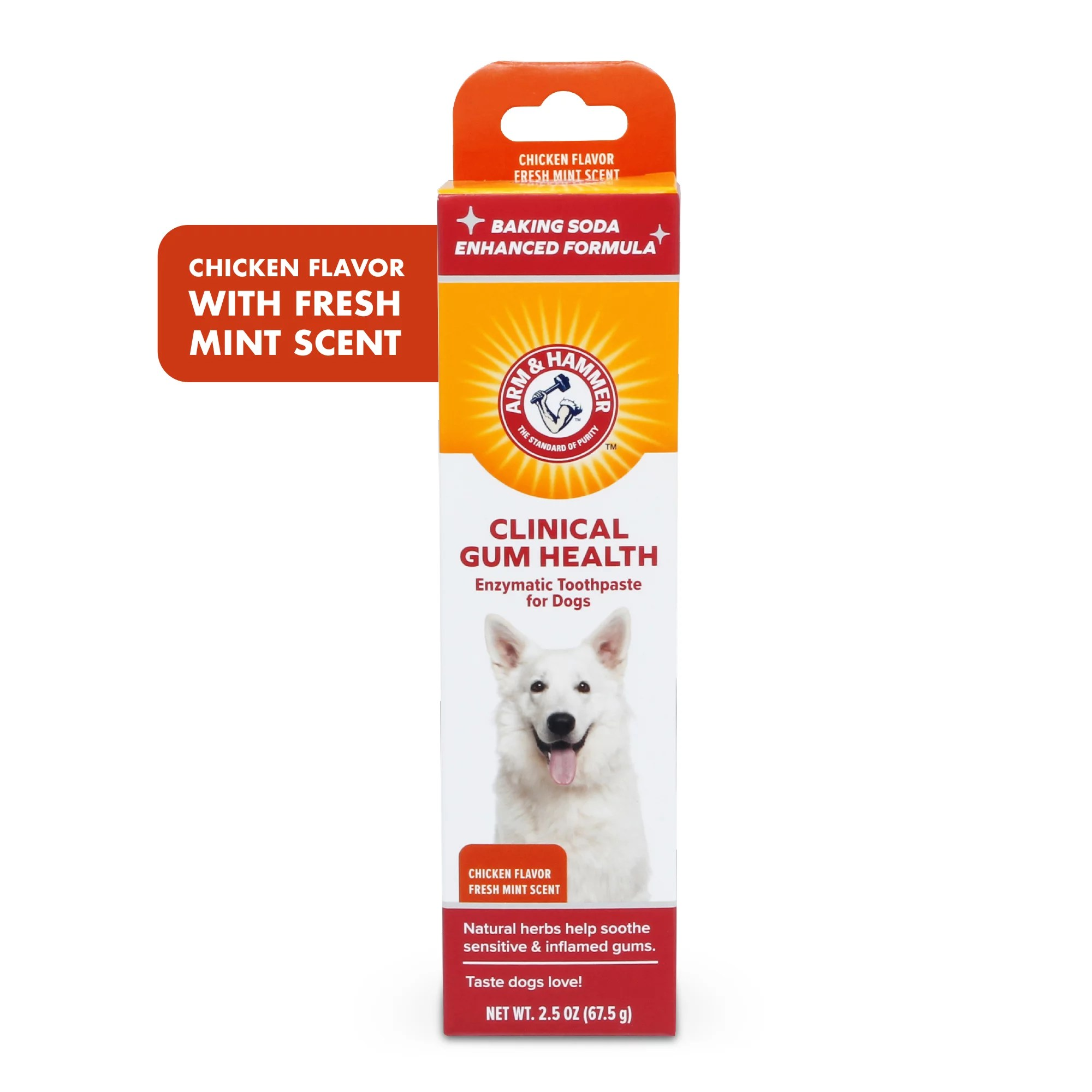 arm hammer clinical care gum health enzymatic toothpaste for dogs in chicken flavor walmart com