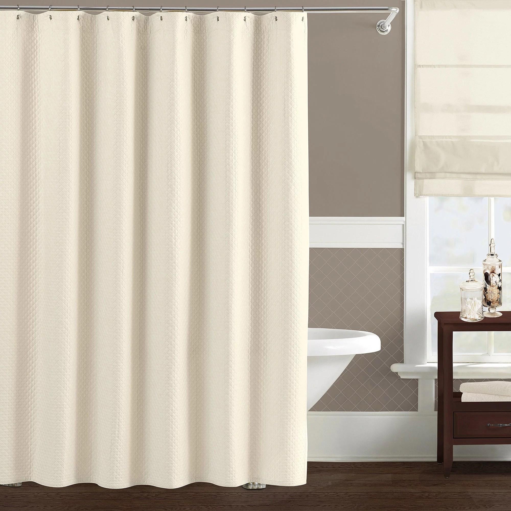 Lamont Home Luxury Matelasse Diamante Cotton Shower Curtain