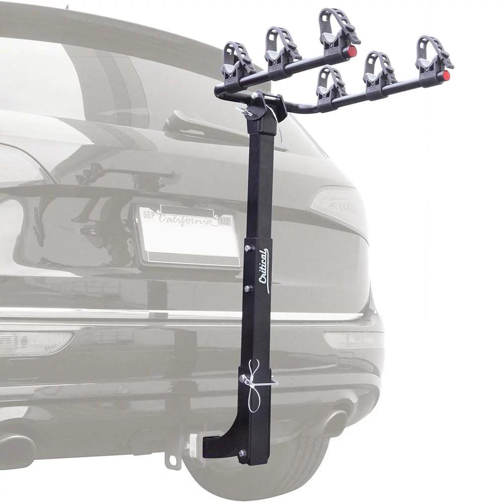 retrospec lenox hitch mount bike rack 3 bicycle carrier