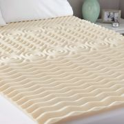 Mainstays 1 5in Zoned Memory Foam Mattress Topper