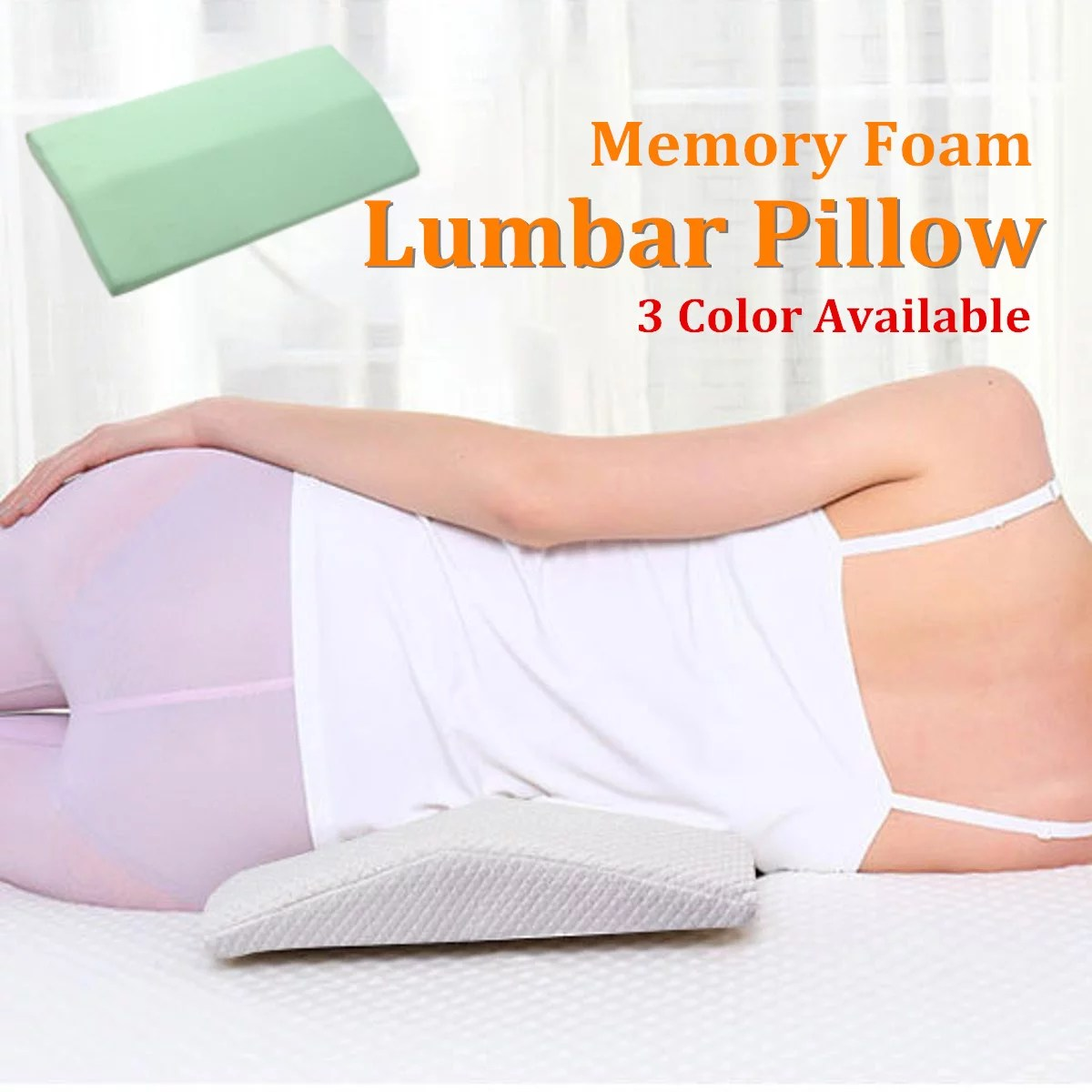 lumbar pillow for sleeping memory foam back pain support lower back cushion in bed waist support cushion pregnant woman hip knee spine alignment