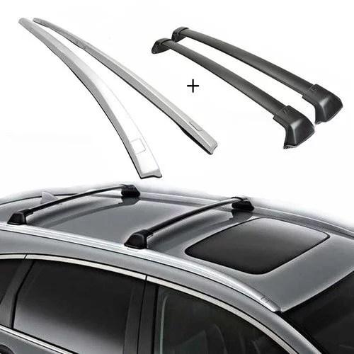 cross bar side bar roof rack for 2012 2016 honda crv black luggage carrier pair oe style