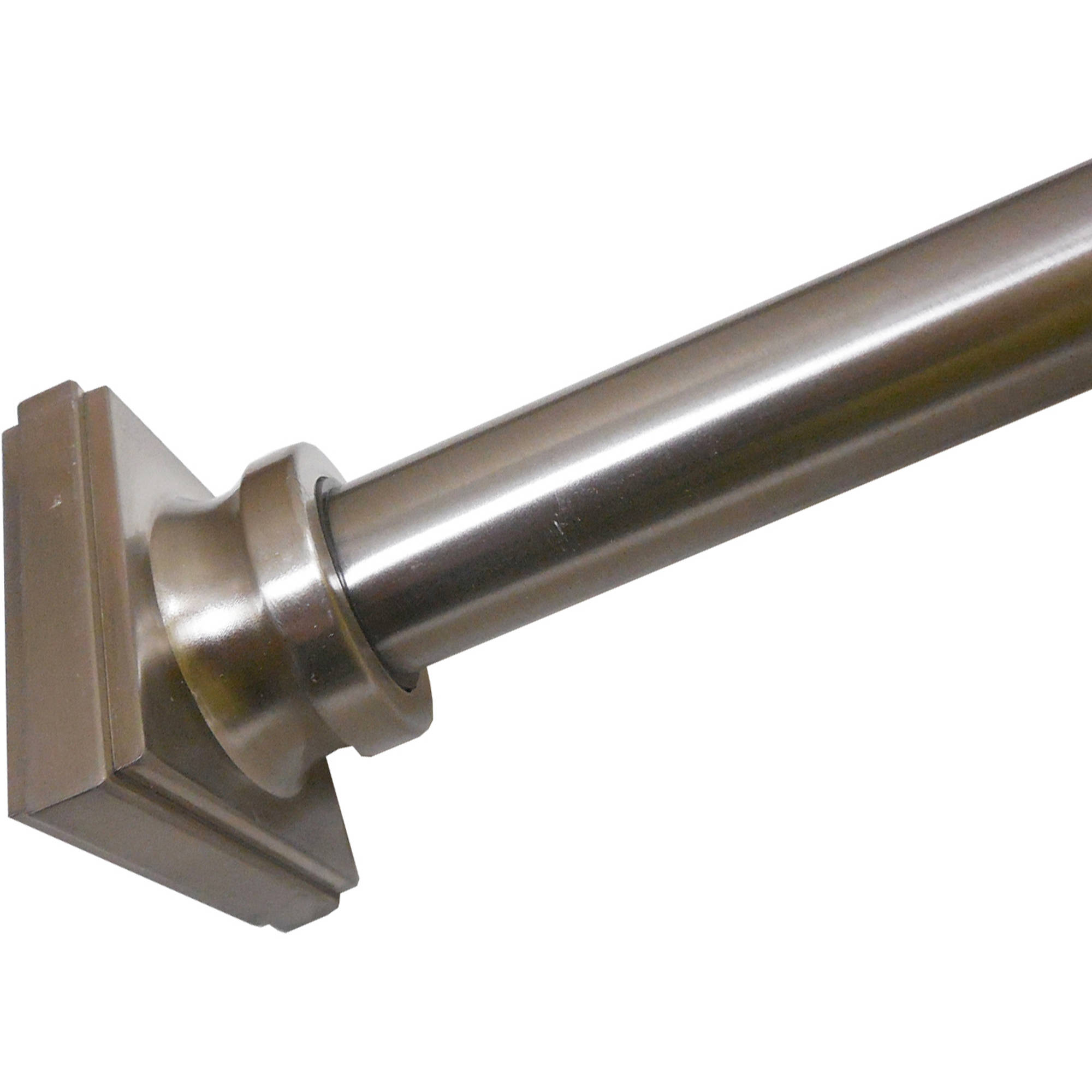 excell legion shower curtain tension rod brushed nickel