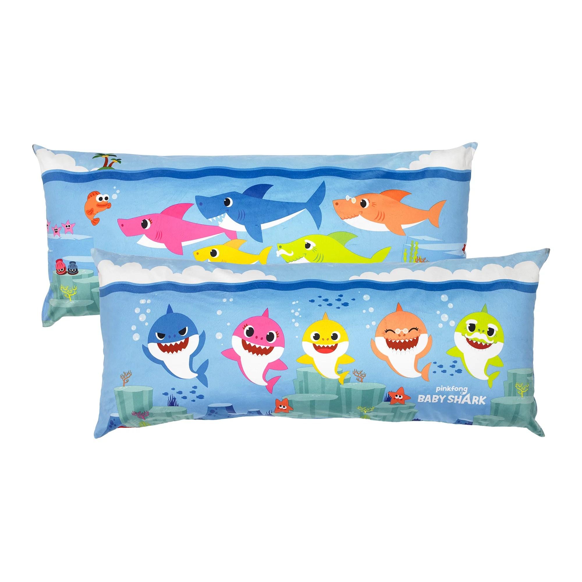 baby shark extra large body pillow reversible design 4 feet long walmart com