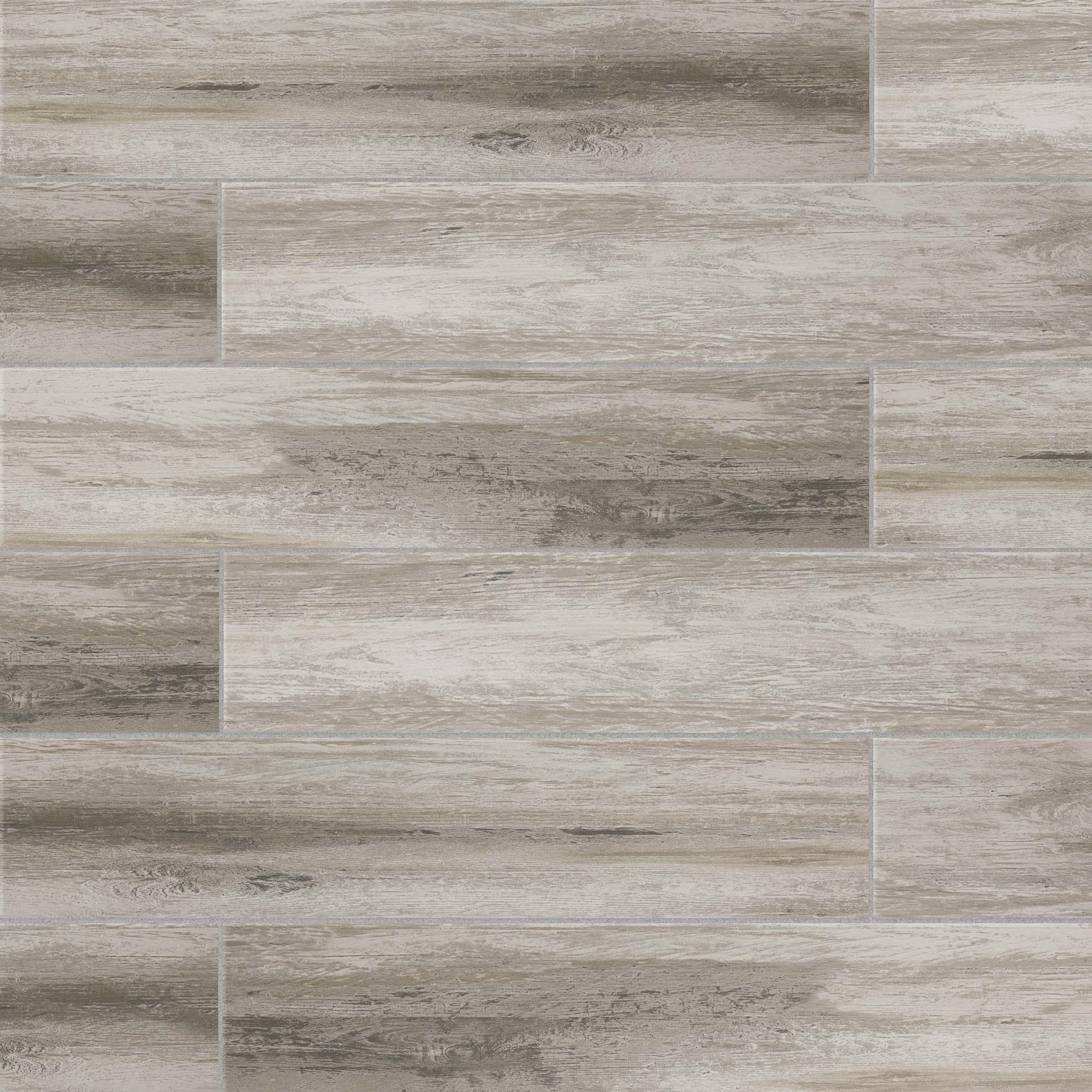 distressed 8 in x 24 in wood look porcelain field tile in betulla