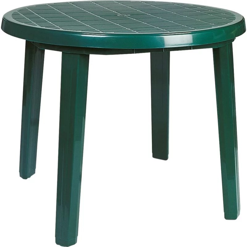 atlin designs 35 5 round resin patio dining table in green walmart com