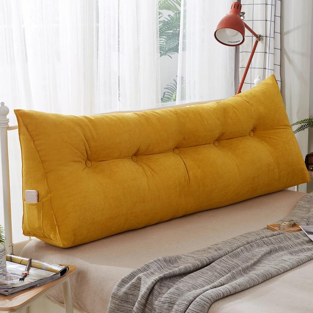 sofa cushion bedside pillow wedge triangular pillow bed backrest positioning support pillow reading pillow office lumbar pad for support head waist