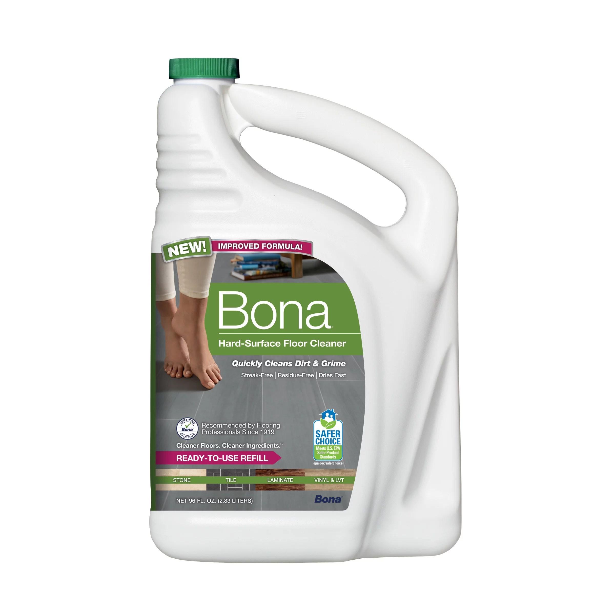 bona hard surface floor cleaner refill walmart com