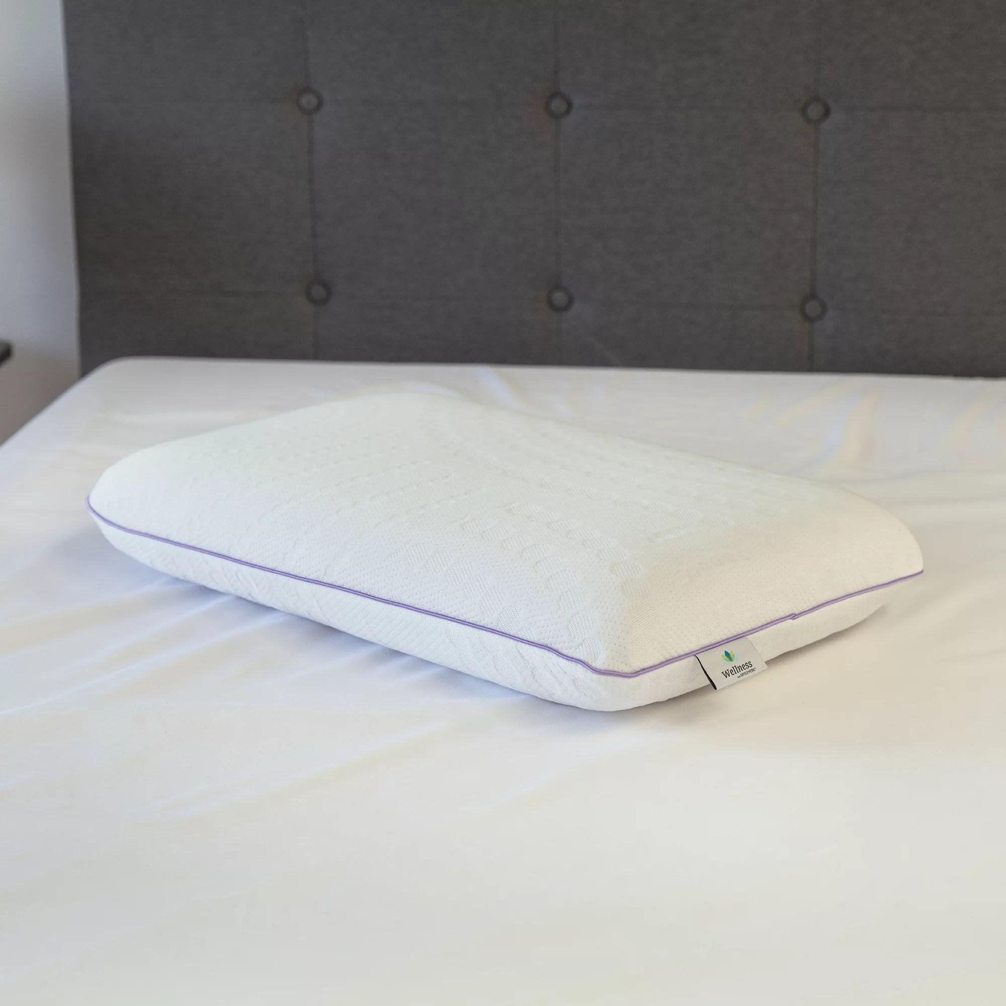 sensorpedic relax lavender infused memory foam pillow walmart com