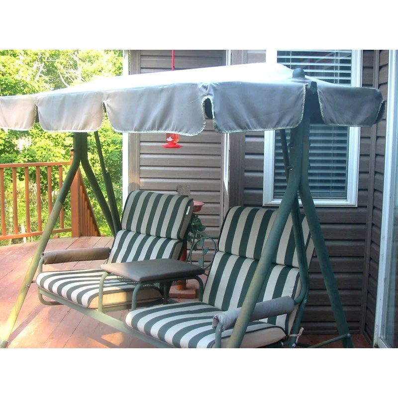 garden winds replacement canopy top for walmart 2 seater swing