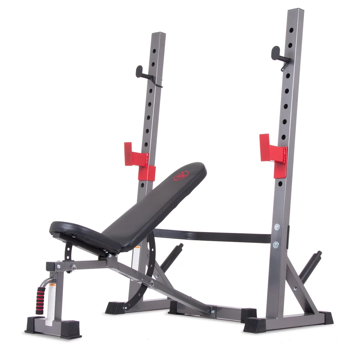 body champ bcb5280 two piece set olympic weight bench with squat rack walmart com