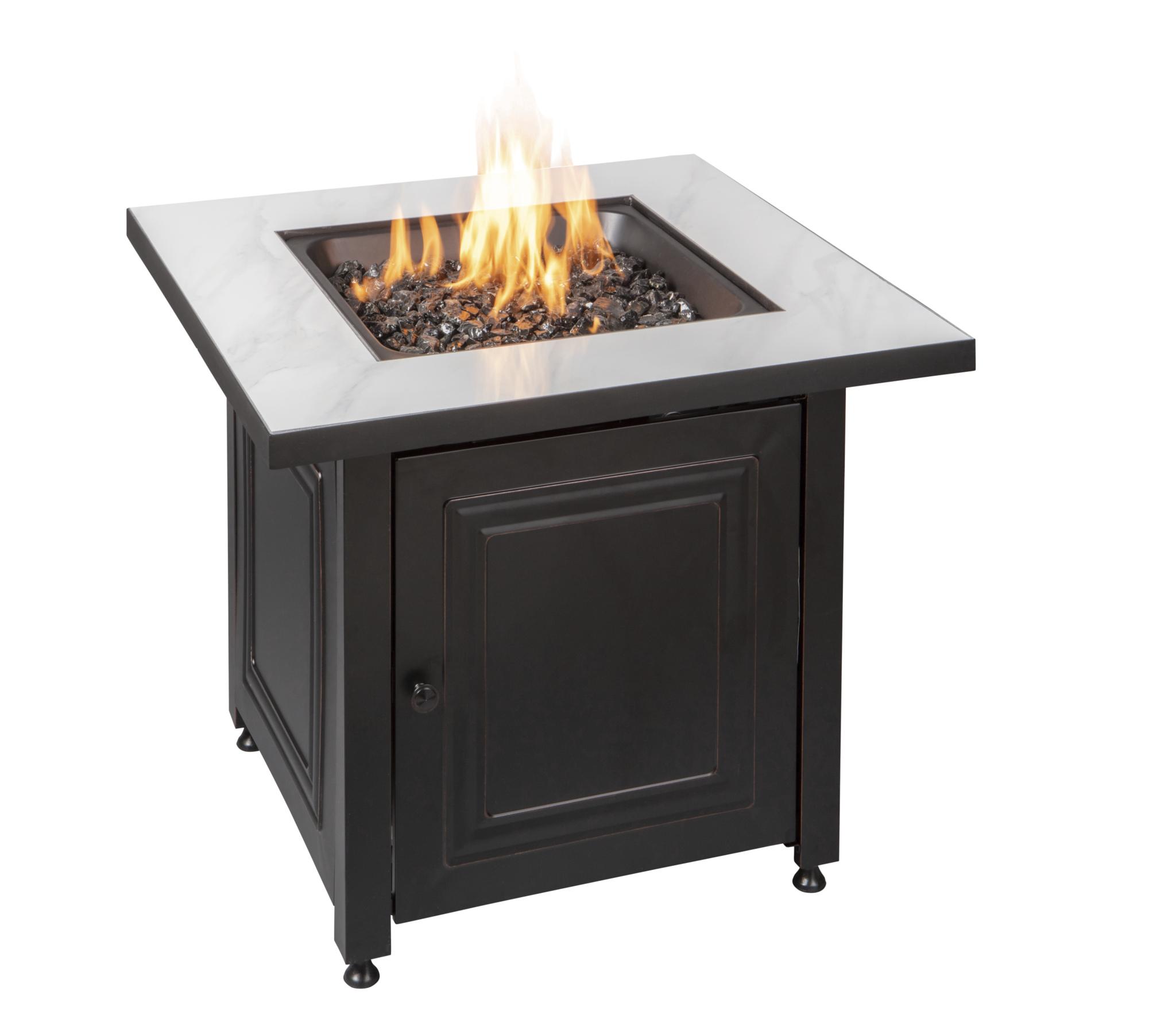 blue rhino gad15261sp fire pit lp gas table black beige