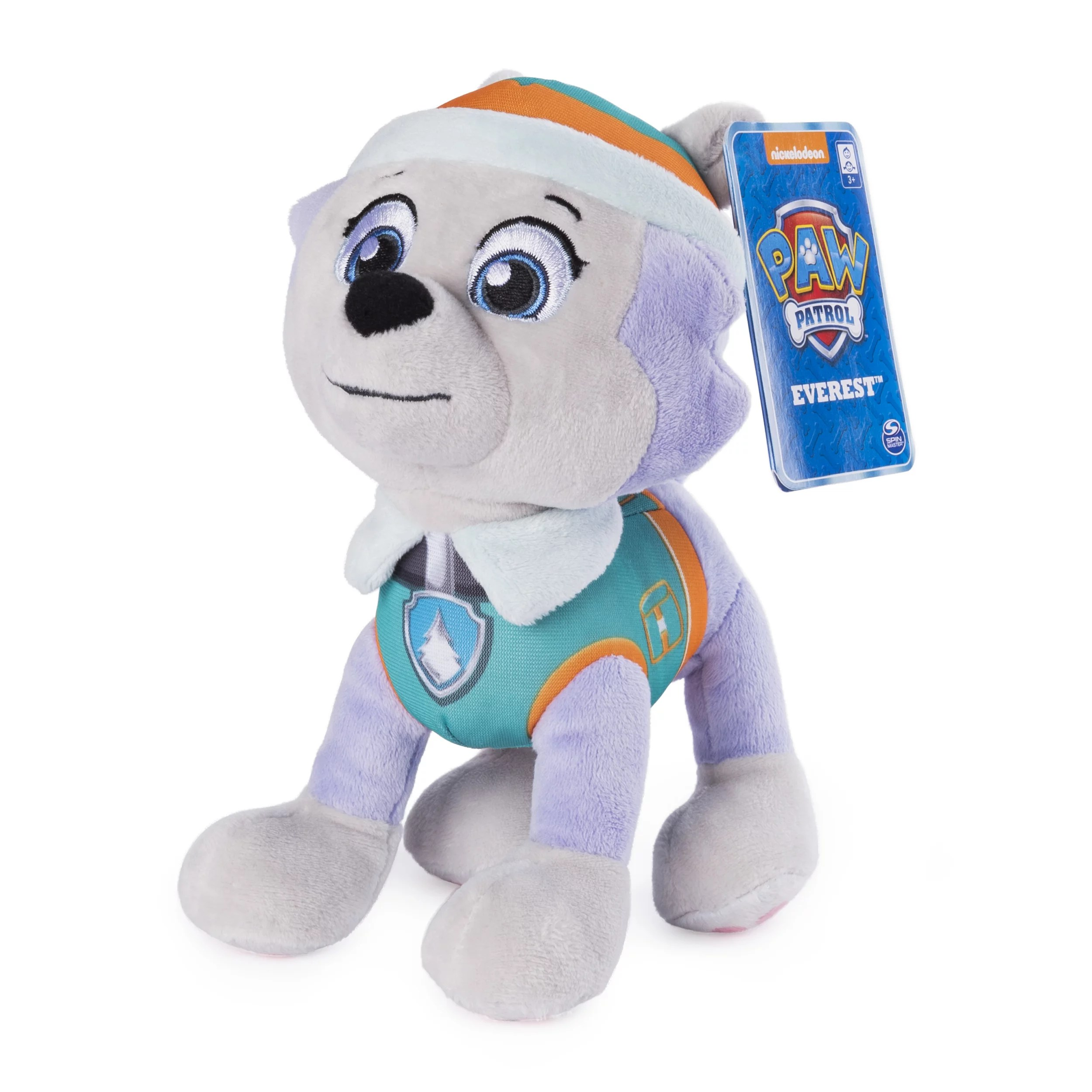 paw patrol 8 inch everest plush toy standing plush with stitched detailing for ages 3 and up walmart com