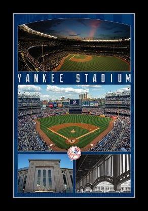 yankee stadium poster print