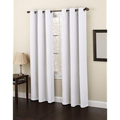 no 918 montego casual textured grommet curtain panel 48 x 84 inch white