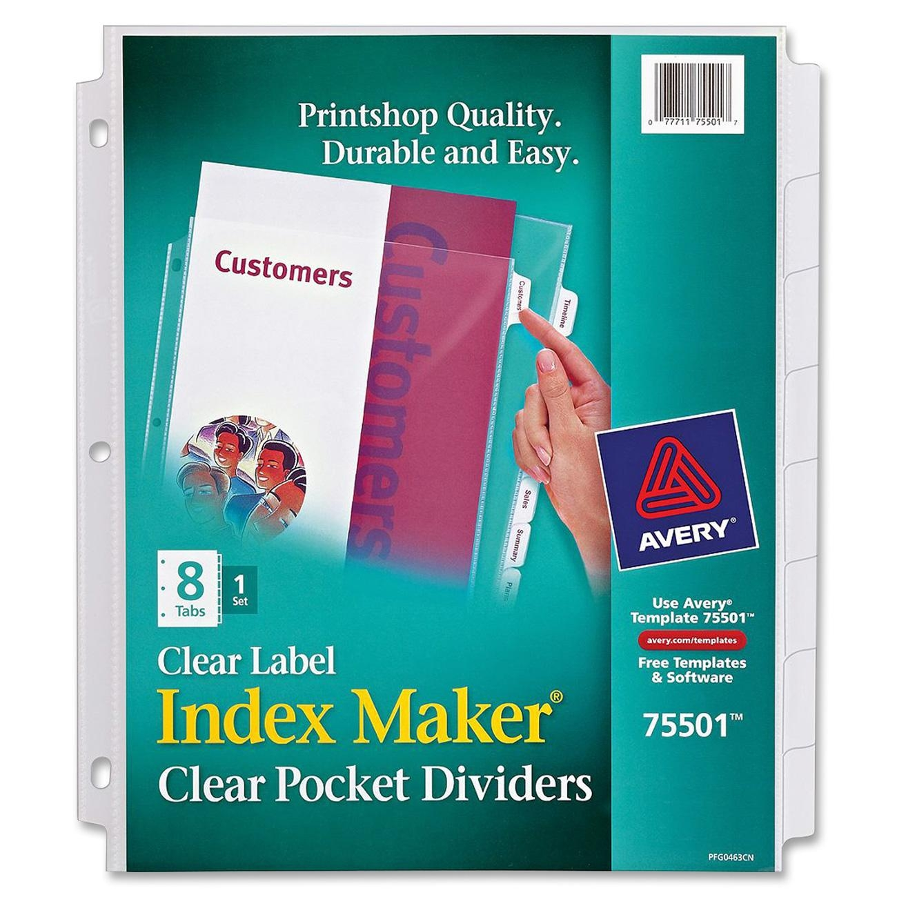 Avery Index Maker Template  templates labels divider