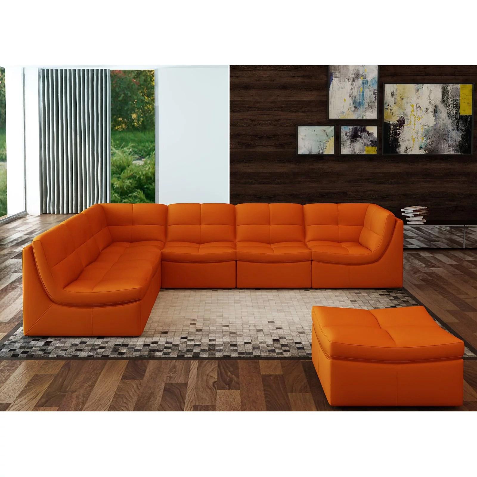 j m furniture lego 7 piece sectional sofa set